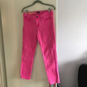 Hot pink J Crew Ankle Pants